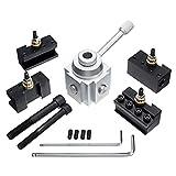 MEIYOUNG LITWOLI Drehwerk Metalldrehmaschine, Mini-Schnellwechsel-Stahlhalter Aluminiumlegierung...