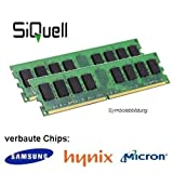 4GB (2x 2GB) DDR2 800MHz (PC2 6400U) LO Dimm Computer PC Desktop Arbeitsspeicher RAM Memory Samsung...