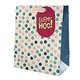 Hallmark Geschenktüte für verschiedene Anlässe, mittelgroß, Pink mit blauen Punkten