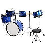 Flatsons Schlagzeug, Schlagzeug mit Hocker Kinderfreundliche Größe Gleichmäßige Vibration...