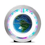 DZX 4-Zoll-Schwimmkugel mit LED-Lichtern Magnetische rotierende O-Typ-Weltkarte für die Dekoration...