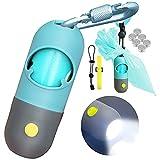 Hundekotbeutelspender mit integrierter LED-Taschenlampe und Robuster Karabiner, Zubehör für...