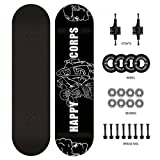 YF-Barstool Skateboard Komplette PRO Skateboard Deck Double Kick 7 Schicht Ahornholz Erwachsene...