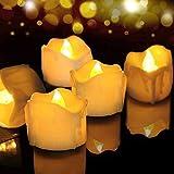 LED Kerzen, FOCHEA 12er Set Flammenloses LED Kerzen/Teelichter/LED Teelicht Batteriebetriebener mit...