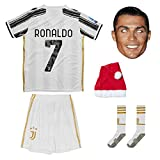 Juventus Ronaldo Trikot Set #7 Heim 2018/19 Kinder Fussball Trikot Mit Shorts und Socken Kinder (7-8...