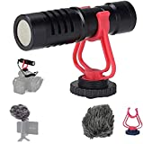 HAFOKO Universal Video Shotgun Mikrofon kompatibel fürDSLR Kamera, Camcorder, Mac, Tablet und...