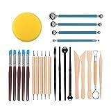 Polymer Clay Werkzeug,24 Stück Polymer Ton Werkzeug Modellierwerkzeuge Set Keramik Werkzeug...