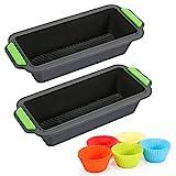 Fostoy 2pcs Silikon-Brot-undKastenformen+10Pcs Muffin Cupcake,...