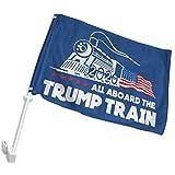 Dydan Tne 2020 Trump Train Flags2 Langlebige Auto-Flagge, LKW-Fenster Fahrzeug-Clip drinnen draußen...