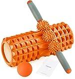HBselect Faszienrolle 3in1 Set Wirbelsäule Foam Roller Massagerollen Duoball Massagestäbchen...