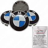 Satz von 4 Radnabenabdeckung kompatibel BMW - Blau und Weiß, Classic, 68 mm Durchmesser - von...