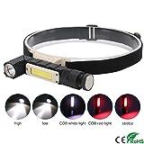 FGBFDG XPG COB LED Taschenlampe 5-Modus 360-Grad-Drehung Scheinwerfer USB Wiederaufladbare...