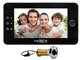 prsTECH® DoorCAM DC1 PLUS Wide Screen, Digitaler-Türspion 4,3 Zoll LCD Display für Türstärken...