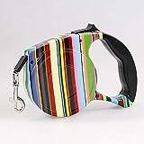 Einziehbare Hundeleine, Geeignet for kleine und MediumPets, One-Hand-Bremse (Color : Rainbow Color,...