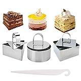SwirlColor Tortenring, Mousse-Kuchenform in Lebensmittelqualität mit Drücker zur Herstellung von...