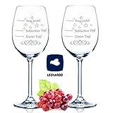 2x Leonardo XL Weinglas Schlechter Tag, Guter Tag - Frag nicht! - Geburtstagsgeschenk - Lustige...