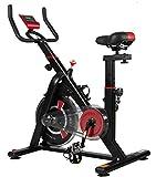 ISE neusten Indoor Cycle Ergometer Heimtrainer mit LCD Anzeige,Armauflage,Puls&gepolsterte...