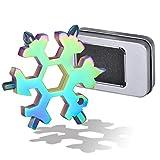 KATELUO 18-in-1 Edelstahl Schneeflocken Multi-tool,Geschenke für Männer,Schraubendreher...