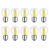 JMSL 10er-Pack E27 LED-Golfballbirne 4 W, 40 W-Äquivalent, G45, Nicht dimmbar, LED-Glühbirne,...