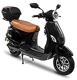 Rolektro Retro 45 km/h V.2021 Elektroroller - 2000W E-Scooter 60km Reichweite E-Roller mit...