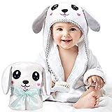 Kaome Baby Handtuch Kapuze Bio-Bambus Badetuch Kapuzenhandtuch Baby Großes weiches und super...