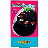Decocino Decor Marzipan Schwarz – vegane Marzipan-Rohmasse – Kuchen-Deko, Torten-Deko –zum...