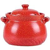 Chinesischer Auflauf Tontopf zum Kochen, Gasherd Keramik Eintopf Kochgeschirr Suppenterrine mit...