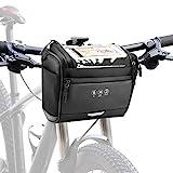 CestMall 3.5L Fahrradtsche zur Befestigung am Lenker, mit abenehmbaren Schultergurt. Fahrrad...