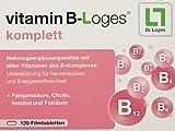vitamin B-Loges® komplett Nahrungsergänzung - 120 Tabletten, Komplex aus allen B-Vitaminen und...
