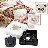 2 Stück Sandwich Cutter Cute Panda Taschenbrot Cutter, Handwerkzeug Sandwich Kit, Food Deco,...