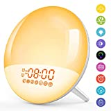 [Upgraded] Wake Up Light Lichtwecker Radio Wecker LED Nachtlicht Kinder mit Sonnenaufgang...