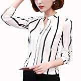 Chiffon Fashion Shirts Hemd Langarm 2020 Blusa Office Damen Frauen Kleidung Elegant Camicetta...