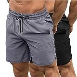 COOFANDY Herren Sport Shorts 2 Pack Running Kurze Schnell Trocknend Leicht Trainings Fitness mit...