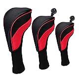 HomeDecTime 3-teiliges Headcover-Set, Golf Schlägerhaube Driverkopfhüllen Schlägerschutz für...