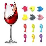 Besylo Silkon Glas Markierung, Markierungen für Gläser, Glas Markierung, Getränk Marker Weinglas...