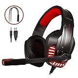 LATEC Gaming Headset für PS4, PC, Xbox One S, Laptop, Tablet, Phone, Mac, Gaming Kopfhörer mit...
