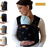 Kleiner Held Babytragetuch hochwertiges elastisches Baby Tragetuch Babytrage fr Frh- und Neugeborene...
