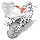 Luxshield Motorrad Tankpad Lackschutzfolie Kratzschutz für Tank - Transparent glänzend &...
