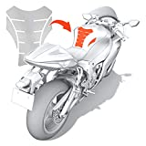 Luxshield Motorrad Tankpad Lackschutzfolie Kratzschutz fr Tank - Transparent glnzend & selbstklebend