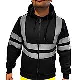 Strungten Kapuzen-Sweatshirt mit hoher Sichtbarkeit, reflektierendes Band, Arbeits-Sweatshirt,...