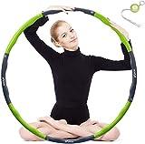 Hula Hoop zur Gewichtsreduktion,Reifen mit Schaumstoff Gewichten Einstellbar Breit 48–88 cm...