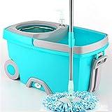 FOOSKOO Wischmop Bodenwischer Spin Mop und Eimer Set 360 Grad Spinning Mop Eimer Home Cleaner for...