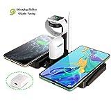 4 in 1 Wireless Ladestation Kompatibel mit iWatch, Airpods und Apple Pen Ladestation Qi Schneller...