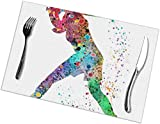 NA Place Mats, Dining Table Placemats Sets of 6 Heat Resistant Washable Table Mats Baseball Softball...