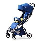 FASSTUREF Kinderwagen Allrad-Stoßdämpfungssystem Fünf-Punkt-Sicherheitsgurt Rückenlehne...