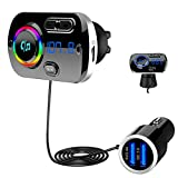 Bluetooth 5.0 FM Transmitter, SONRU Auto Bluetooth Radio Adapter Freisprecheinrichtung KFZ MP3...