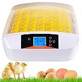 Vollautomatische Inkubator, Brutmaschine für bis zu 56 Hühnereier Brutapparat mit LED...