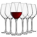 Krosno Kleine Rot-Weingläser | Set von 6 | 300 ML | Splendour Kollektion | Perfekt für zu Hause,...