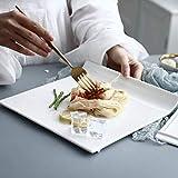 Dinner Plate Set Service Schüssel-Platten Pure White Ceramic West Dish Kalte Platte Set Steak...