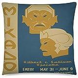 GodYo Vintage Poster - Mikado 1430 - Quadratische Kissenbezugfllung - 18 x 18